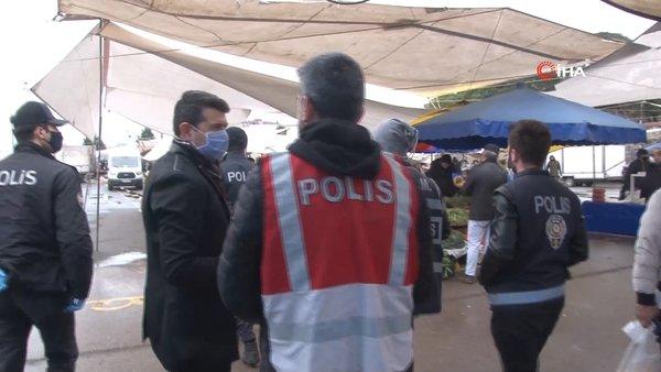 İstanbul'da polisten 20 yaş altı ve 65 yaş üstündekilere corona virüsü uygulaması! | Video