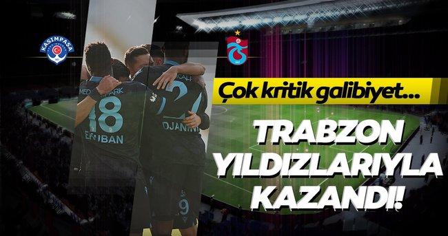 Trabzonspor'dan kritik galibiyet! Bordo-mavili ekip yıldızlarıyla kazandı!