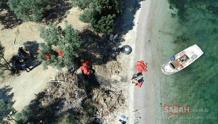 Gemlik Körfezi'nde drone destekli kaçak midye operasyonu
