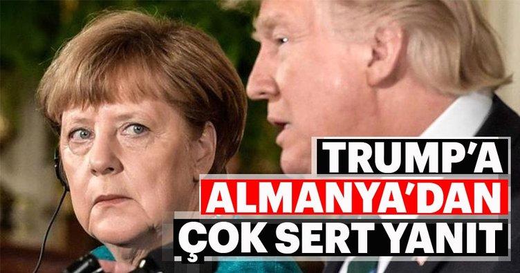 Almanya'dan ABD Başkanı Trump'a sert yanıt