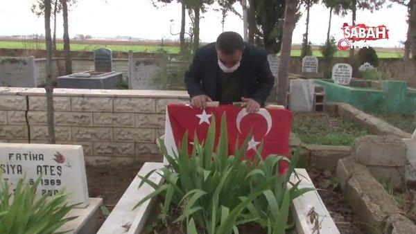 Çocuklarını şehit eden teröristin öldürüldüğü haberini alan aile mezarlığa koştu | Video