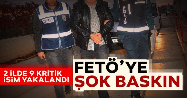 Malatya merkezli FETÖ/PDY operasyonu: 2 ilde 9 kişi yakalandı