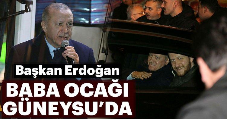 Başkan Erdoğan baba ocağı Güneysu'da