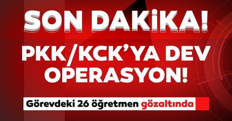 Son dakika: Diyarbakır'da PKK/KCK'ya operasyon: Görevdeki 26 öğretmen gözaltında...