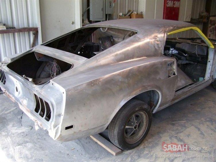 Metal yığını haline gelmiş arabayı hurdalıktan çıkardı ve yeniledi! Çürümüş otomobil adeta hayata döndü