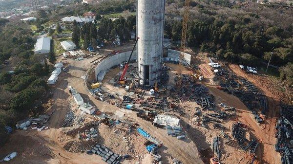 Çamlıca Kulesinin anteninde sona gelindi
