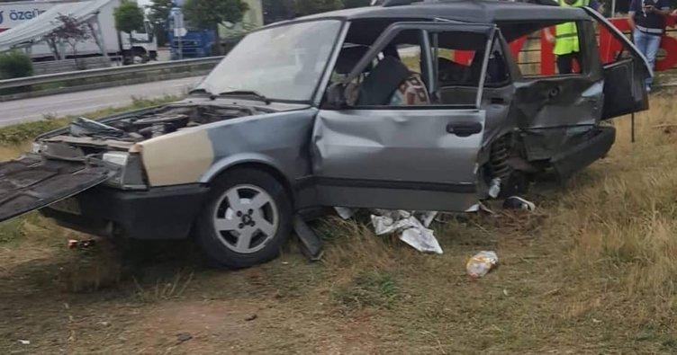 Giresun'da iki otomobil çarpıştı: 1 ölü, 2 yaralı