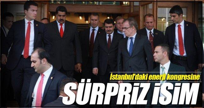 İstanbul'daki enerji kongresine sürpriz isim