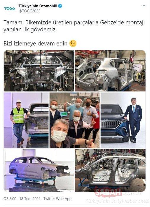 Türkiye'nin yerli otomobili TOGG'da ilk gövde montajı gerçekleşti