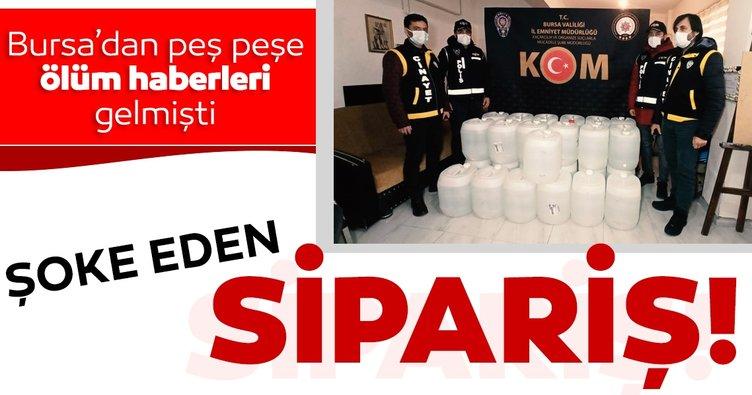 Bursa'daki sahte içki kabusunda son dakika! Polisin ele geçirdiği miktar şoke etti
