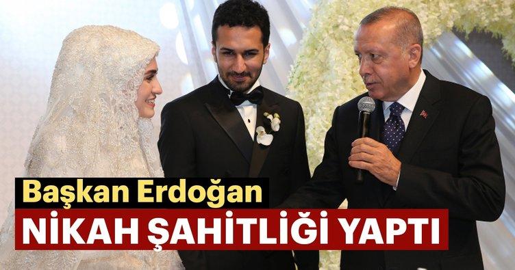 Başkan Erdoğan nikah şahitliği yaptı