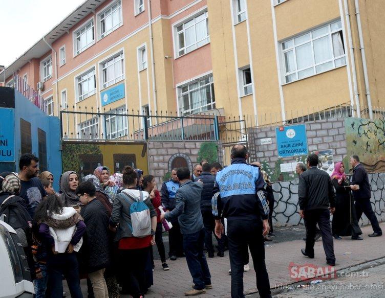 İstanbul'da bir ortaokulda yangın paniği!