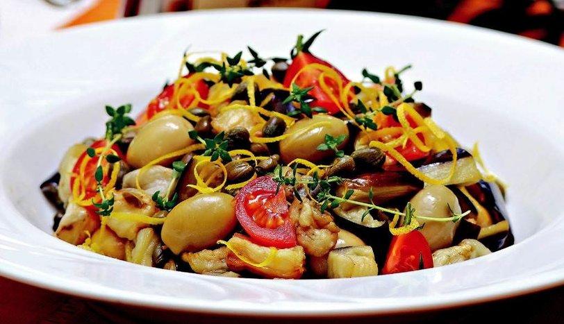 Zeytinli Patlıcan Salatası