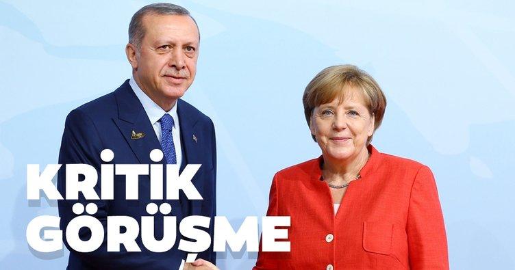 Son dakika: Başkan Erdoğan Merkel ile görüştü
