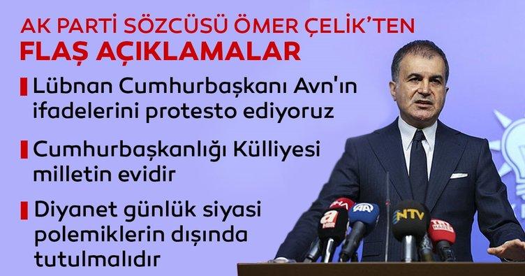Son dakika! AK Parti Sözcüsü Çelik: Lübnan Cumhurbaşkanı Avn'ın ifadelerini protesto ediyoruz...