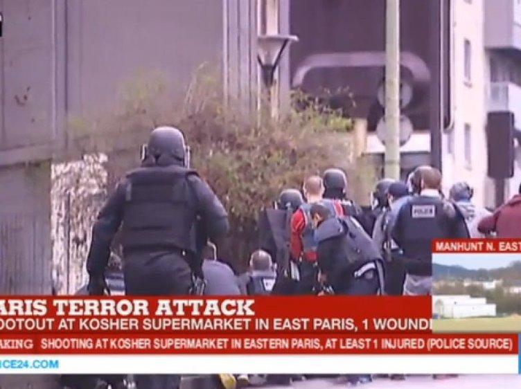 Fransa'da şimdi de markete saldırdılar