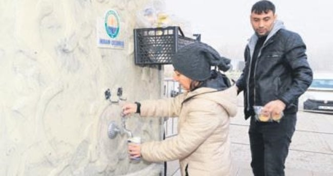 Belediyenin 'ikram çeşmesi' faaliyete geçti