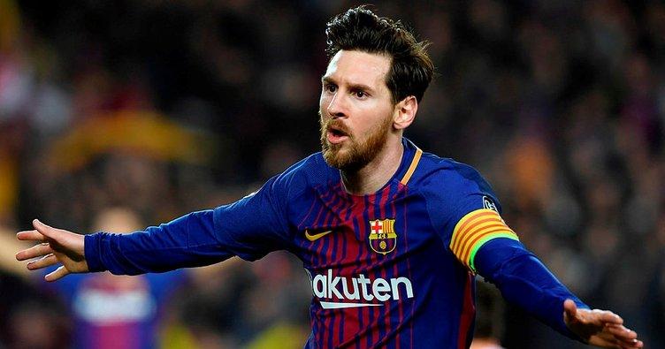 Lionel Messi'nin tarihe geçtiği maçta Barcelona çeyrek finalde