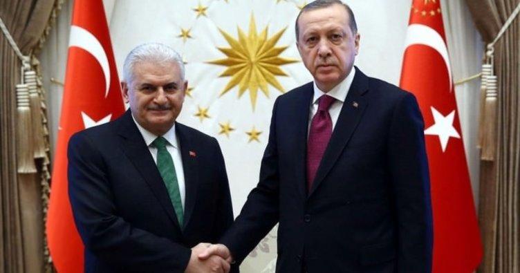 Başkan Erdoğan'dan, Yıldırım'a şeref madalyası