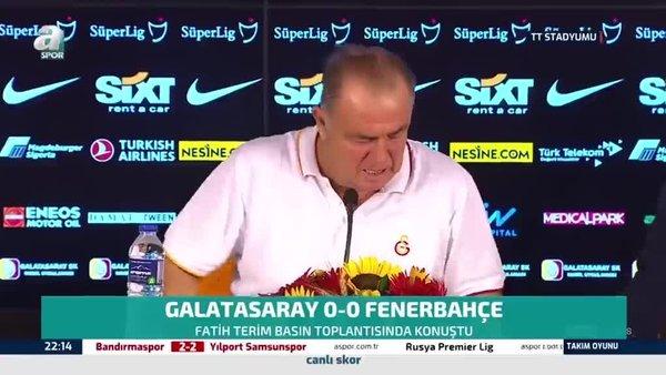 Fatih Terim'in maç sonu açıklamaları