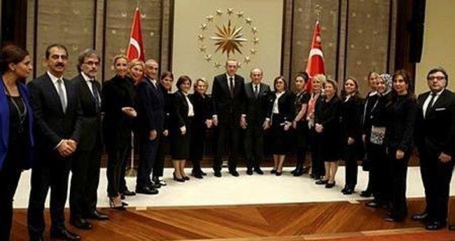 Cumhurbaşkanı Erdoğan, TDP heyetini kabul etti