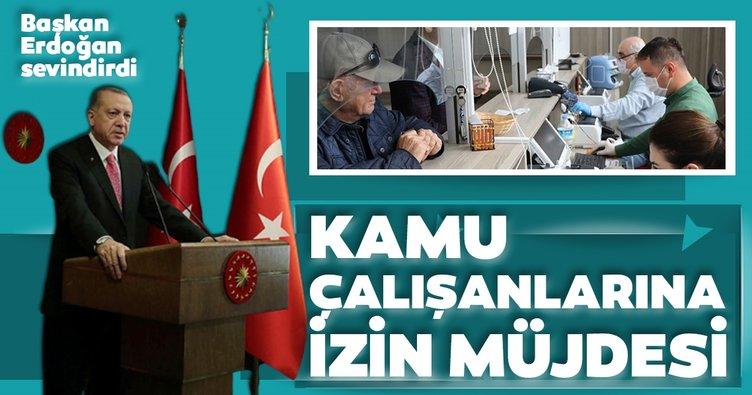 Son Dakika: Başkan Erdoğan'dan kamu çalışanlarına izin müjdesi