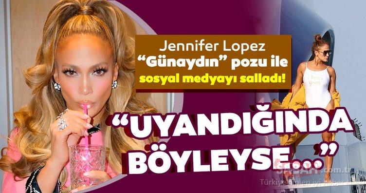Jennifer Lopez 'Günaydın' pozu ile sosyal medyayı salladı! Jennifer Lopez'in makyajsız hali övgü topladı!