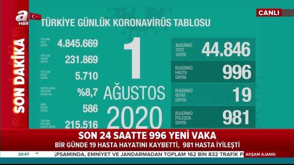 Son dakika: Sağlık Bakanı Fahrettin Koca '1 Ağustos' vaka ve vefat sayılarını açıkladı | Video