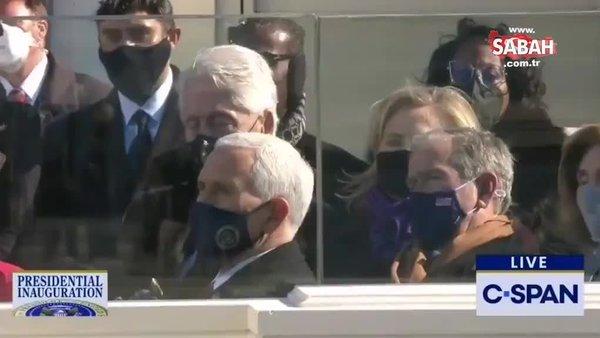 Biden yemin etti, Clinton uyudu   Video