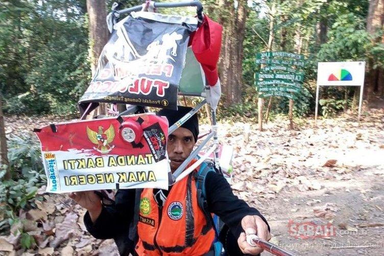 Endonezyalı aktivist, ormanlar için 700 kilometreyi geri geri yürüyor