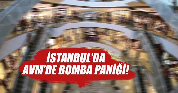 İstanbul'da AVM'de bomba paniği!