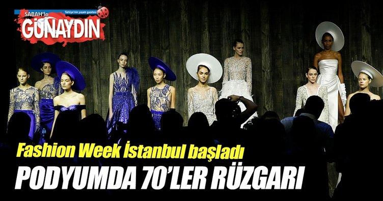 Fashion Week İstanbul başladı! Podyumda 70'ler rüzgarı