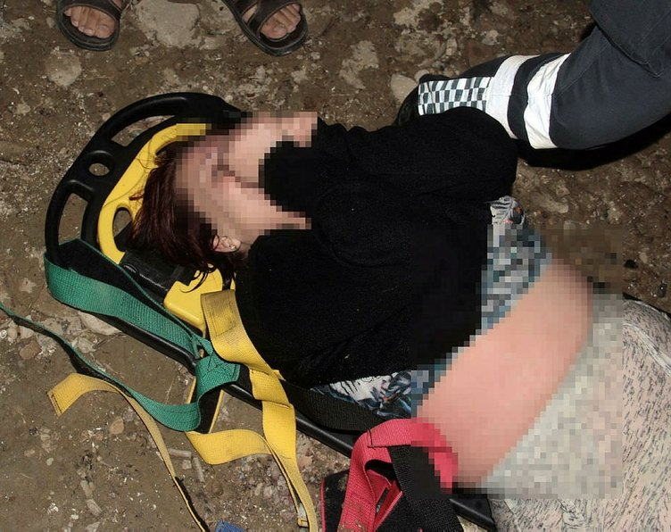 Baraj gölüne atlayan kadını gençler kurtardı
