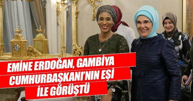 Emine Erdoğan, Gambiya Cumhurbaşkanı'nın eşi ile görüştü