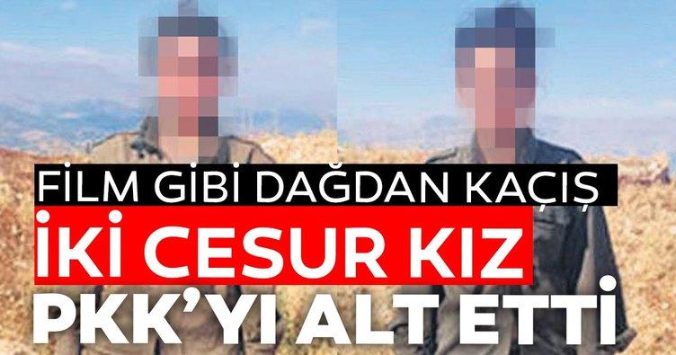 İki cesur kız PKK'yı alt etti