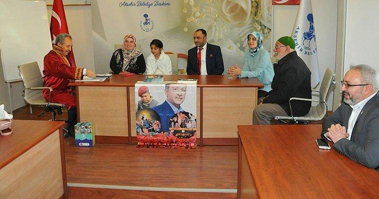 Akşehir'de 2017 yılında 652 çiftin nikahı kıyıldı
