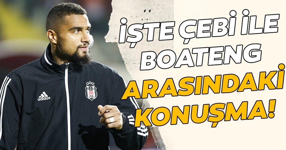 Boateng ile Ahmet Nur Çebi'yi sinirlendiren diyalog!