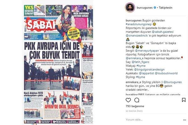 Ünlülerin Instagram paylaşımları (27.03.2018)