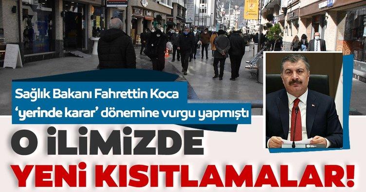 Sağlık Bakanı Fahrettin Koca'dan son dakika: O ilimizde yeni kısıtlamalara gidildi...