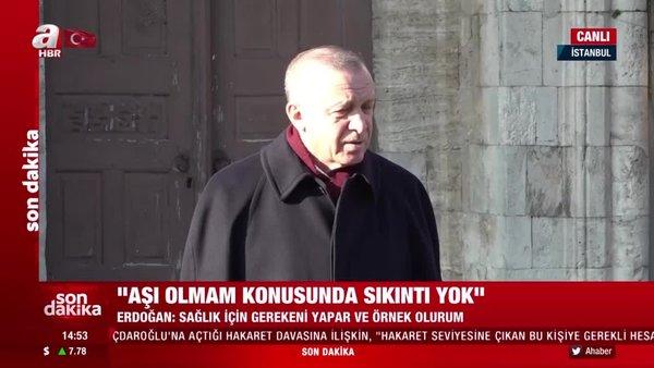 Cumhurbaşkanı Erdoğan'dan Cuma namazı çıkışı önemli açıklamalar | Video