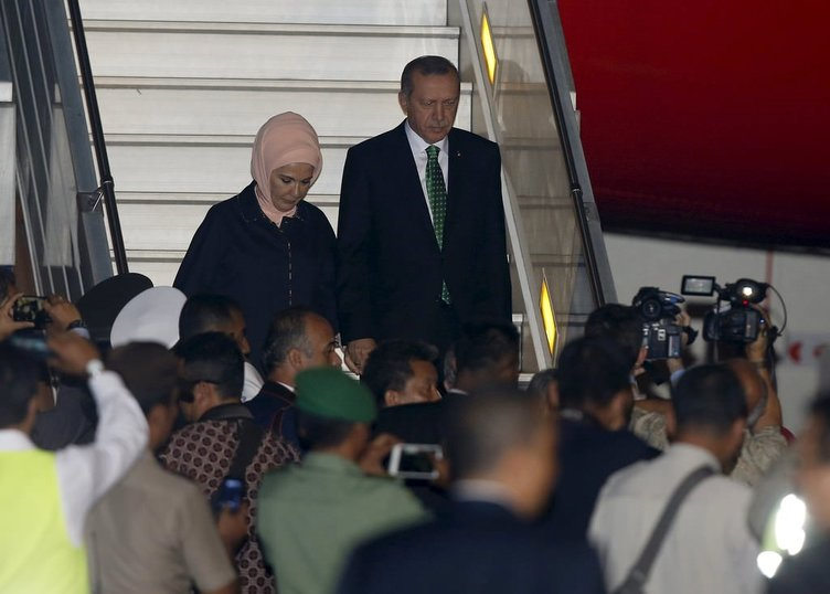 Erdoğan Endonezya'da böyle karşılandı