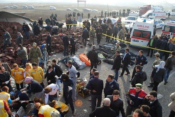 Bismil'de katliam gibi kaza