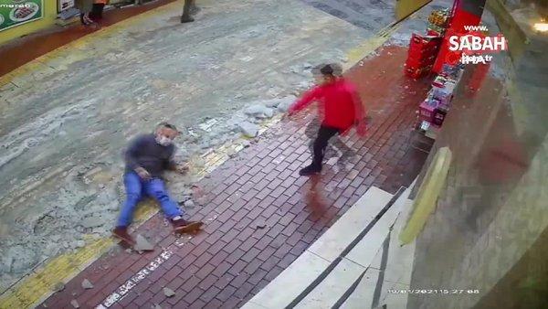 Bursa'dabuzda kayan adamın ayağının kırılma anı kamerada | Video