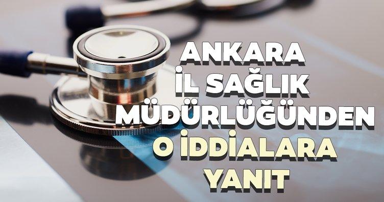 Ankara İl Sağlık Müdürlüğünden Numune Eğitim ve Araştırma Hastanesi hakkındaki iddialara yanıt
