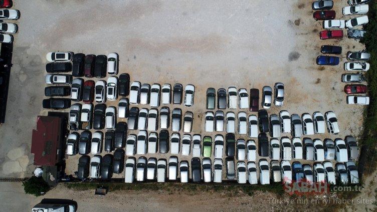 Yer: Antalya! Uyanık borçlular, milyonluk araçları otoparklarda çürütüyor