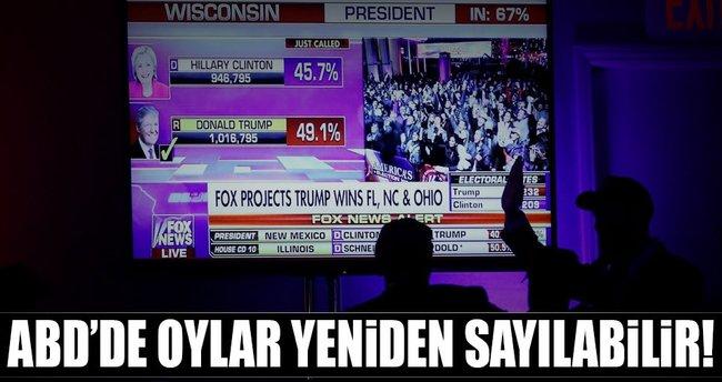 Wisconsin'de oylar yeniden sayılabilir