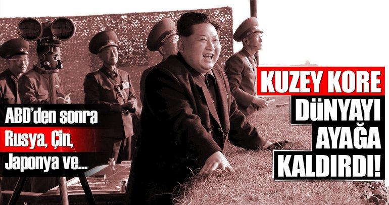 Kuzey Kore dünyayı ayağa kaldırdı! ABD'den sonra...