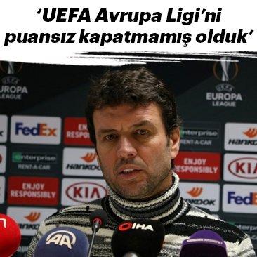 Cihat Arslan: UEFA Avrupa Ligi'ni puansız kapatmamış olduk
