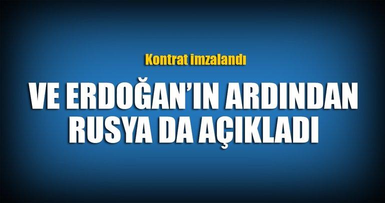 Erdoğan'ın ardından Rusya da açıkladı! S-400 kontratı imzalandı...