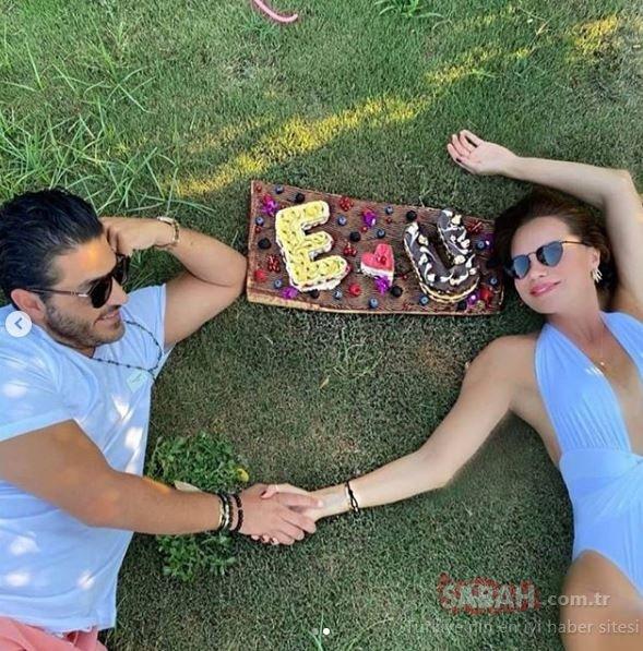 Ebru Şallı ile eşi Uğur Akkuş sosyal medyada gündem oldu! Aşk pozu olay oldu!